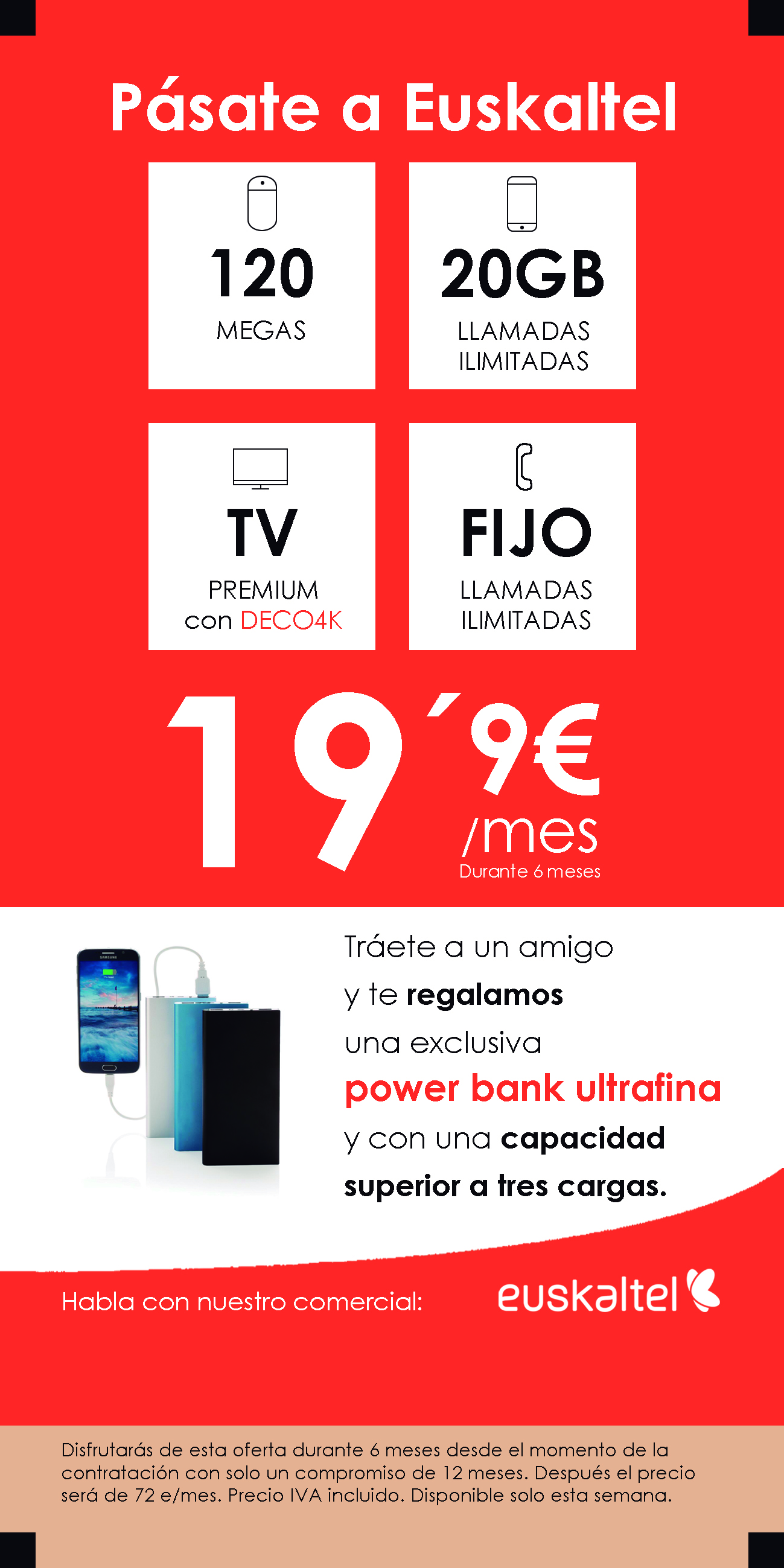 Tráete a un amigo y te regalamos una power bank ultra fina
